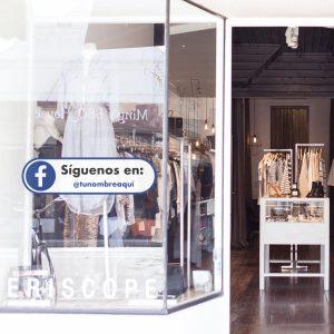 Vinilo Síguenos Facebook